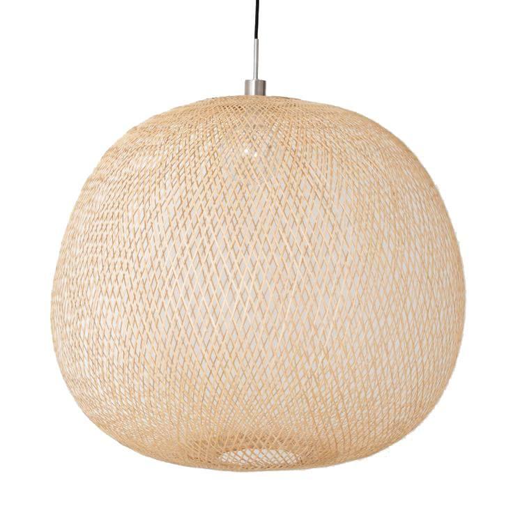 Ay Illuminate Bamboo Pendant Lamp PLUME mini - Naturel - Ø38 cm - Ay illuminate