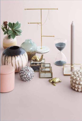 Broste Copenhagen Set of 3 jewelry boxes glass / brass 'Janni' - Broste Copenhagen