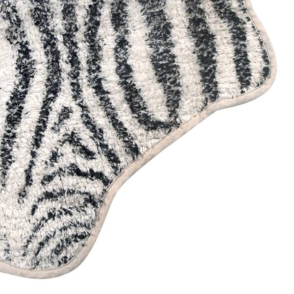Tapis de bain zebre 85x100cm hk living petite lily Tapis rond zebre