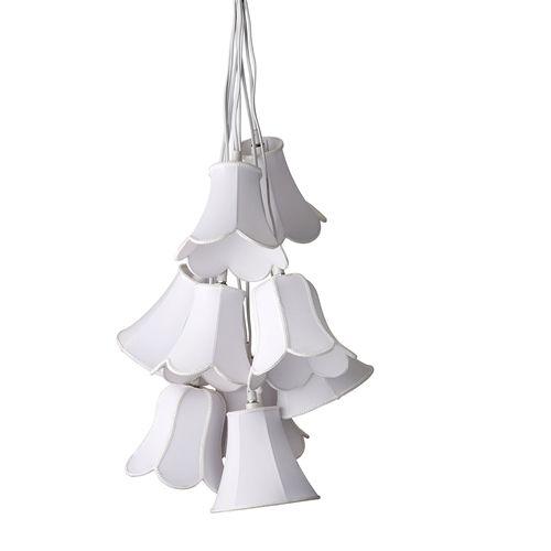 Bloomingville Suspension tulipe - blanc - textile - Bloomingville