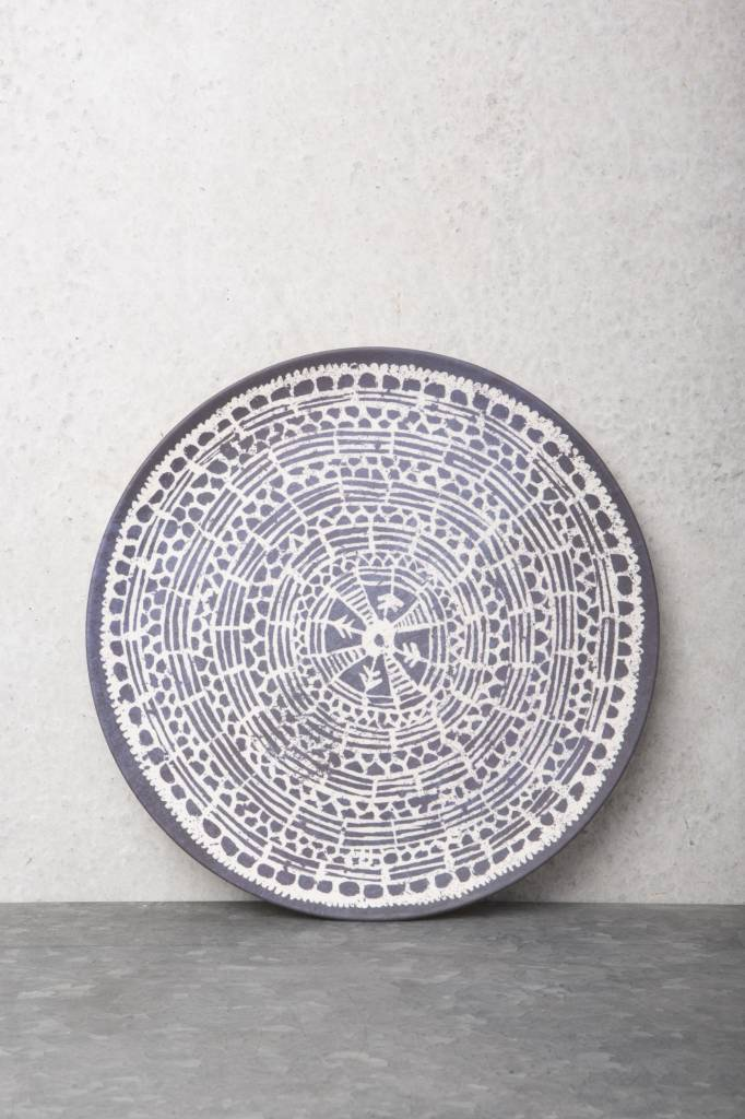 Urban Nature Culture - UNC bamboo plate Mandala Indigo - Ø26cm - UNC