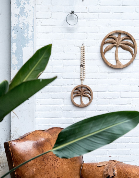 MaduMadu Wall hanging Palm tree - Ø35cm - MaduMadu