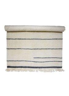 Bloomingville Tapis en laine - Blanc / Nature - L200x140 cm - Bloomingville