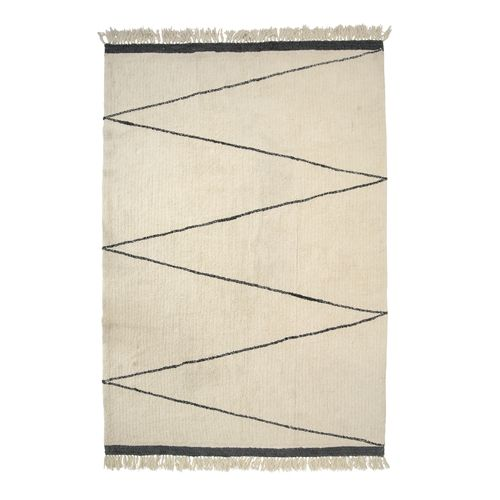 Bloomingville Wool Rug - creme / nature - L200x300cm - Bloomingville
