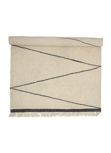 Bloomingville Alfombra de lana - crema / natural - L200x300cm - Bloomingville