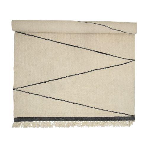 Tapis en laine - cru00e8me / Nature - L200x300cm - Bloomingville