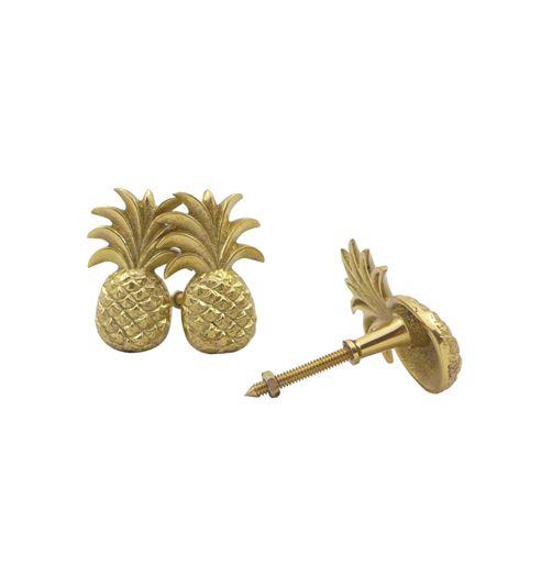 Doing Goods Bouton de porte ou de tiroir Ananas - Or brillant - Doing Goods