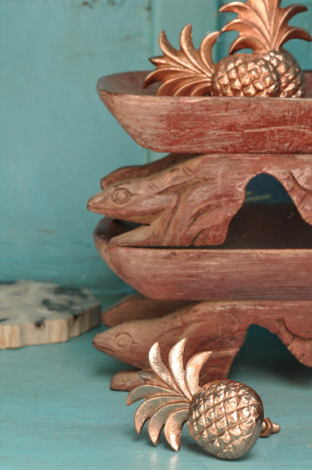 Doing Goods Bouton de porte ou de tiroir Ananas - cuivre brilliant - Doing Goods