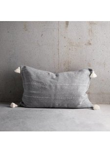 Tinekhome Cushion cover Moroccan with tassels - grey - 50x75cm - TinekHome