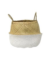 Bloomingville Seagrass basket - natural/white - Ø50xH34cm - Bloomingville