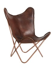 Nordal Leather Armchair Butterfly - Nordal