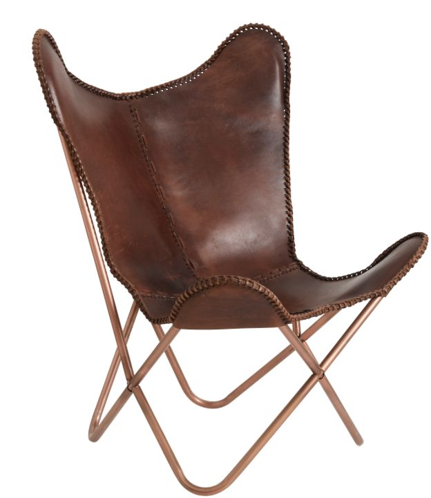 Fauteuil Papillon Cuir Nordal Petite Lily Interiors
