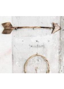 MaduMadu Colgadura de madera teca - Flecha - 75x15cm - MaduMadu