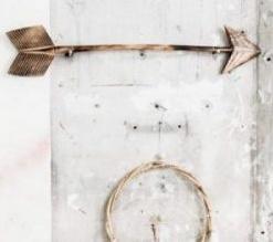 "MaduMadu Trophée mural en bois ""Arrow"" - 75x15cm - MaduMadu"