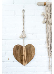 MaduMadu Love Mala Natural - heart 25cm - MaduMadu