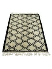 Snowdrops Copenhagen Berber style rug 'ZIKZAK' - creme & black - 140x200cm - Snowdrops Copenhagen