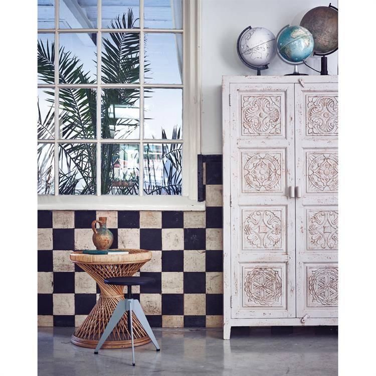 Mesa de café de mimbre peacock ''Emmanuelle '' - 55xh61cm - HK Living