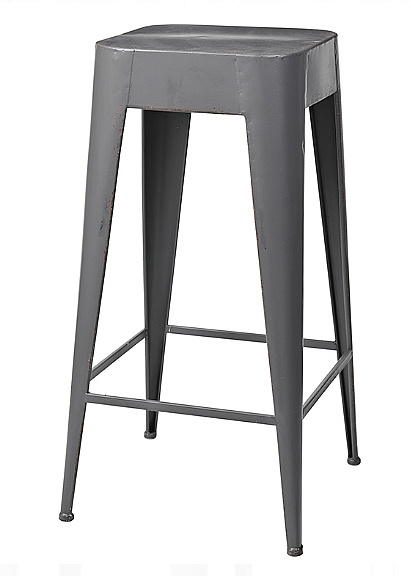 Broste Copenhagen Stool 'Daryll' - h65cm - dark gray metal - Broste Copenhagen
