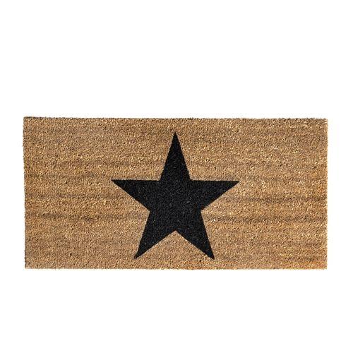 """Bloomingville Doormat coconut """"Star"""" - Bloomingville"""