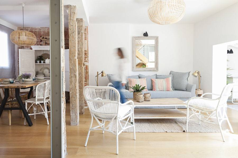 A lovely and inviting mix of Ethnic, Scandinavian, industrial elements with a classical French touch.
