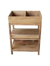 Evenaar Estante de la cocina de madera - 85x60x40,5cm - Evenaar