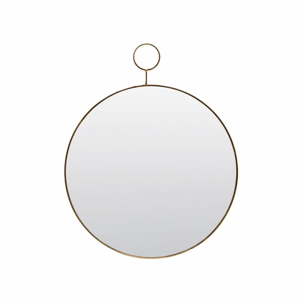 House Doctor Round Mirror The Loop Brass 38cm