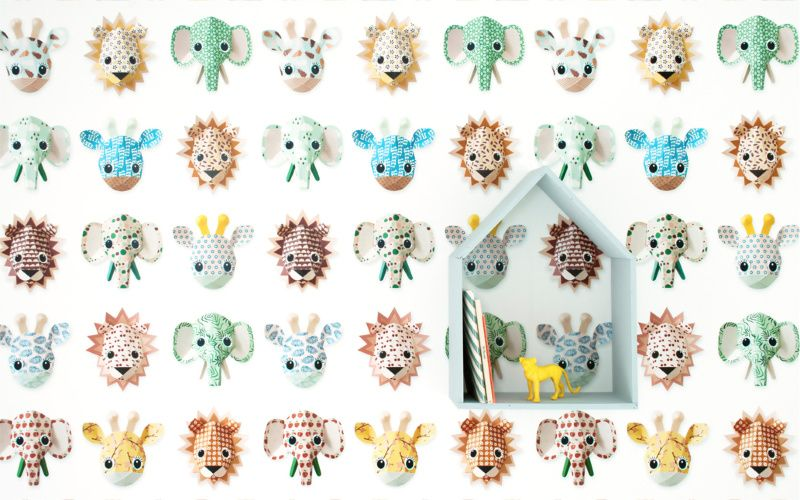 Studio Ditte Wallpaper Zoo Studio Ditte - pink