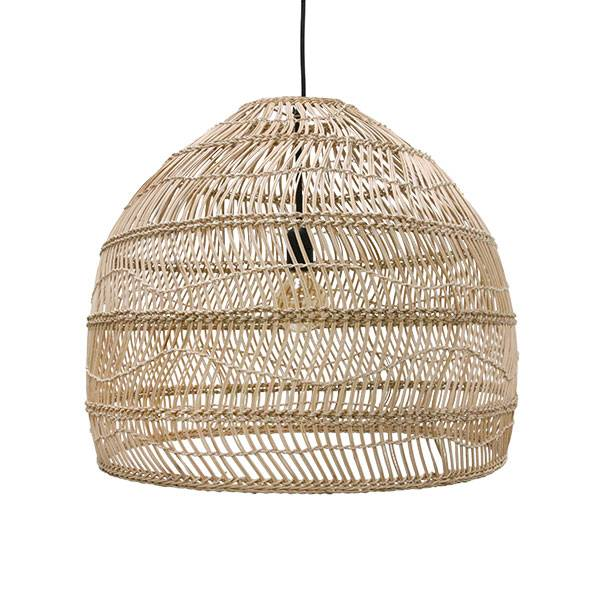 HK Living Lampe Suspension en osier - Ø60xh50cm - Naturel - HK Living