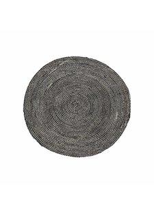 House Doctor Round rug hemp - grey / black - Ø100cm - House Doctor