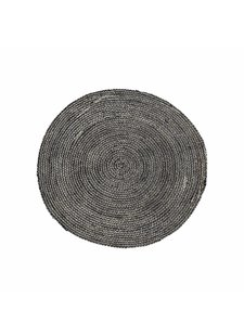 House Doctor Tapis rond chanvre - noir et or - Ø100cm - House Doctor