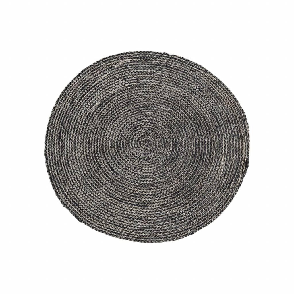 tapis rond noir. Black Bedroom Furniture Sets. Home Design Ideas