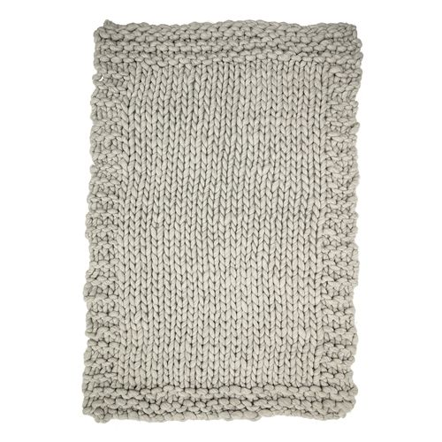 Bloomingville Plaid en tricot XL - Gris - 150x120cm - Bloomingville