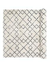 Broste Copenhagen Scandinavian-Ethnic rug 'Janson' - Ivory & black - 200x300cm - Broste Copenhagen