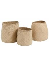 Nordal Set of Seagrass baskets - natural - Nordal