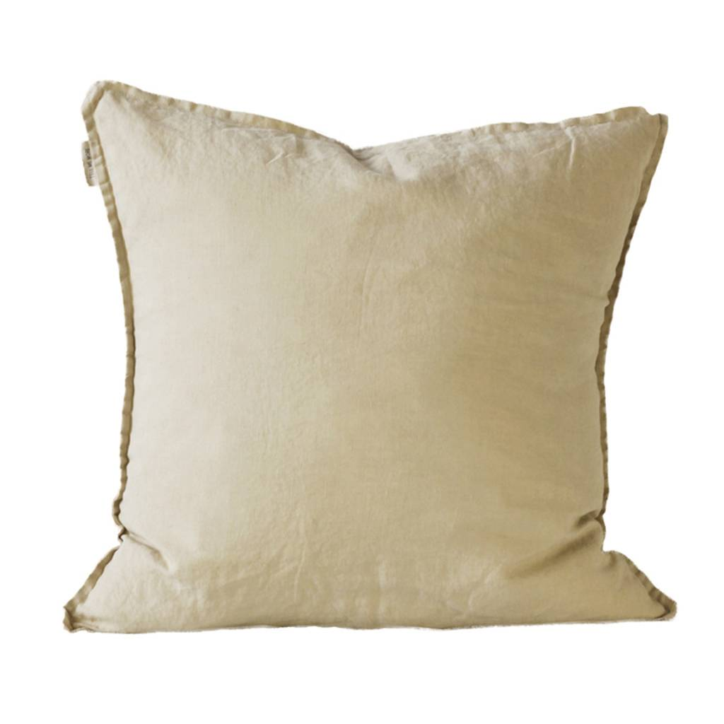 Tell me more Housse de coussin 100% lin - sable - 50x50cm - Tell Me More