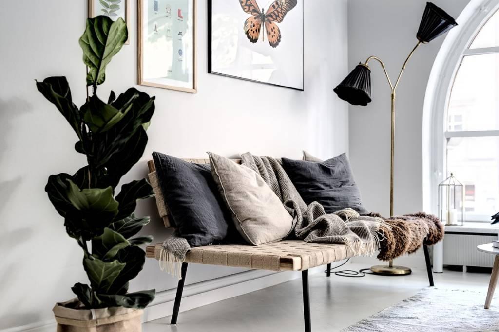 Tell me more Cushion cover 100% linen - dark gray - 65x65cm - Tell Me More
