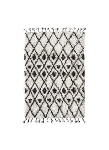 HK Living Berber rug - white with brown diamond pattern - 120x180 cm - HK Living