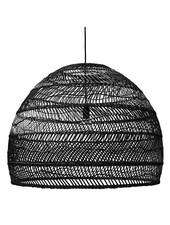 HK Living Wicker pendant lamp - Ø80cm - black - HK Living