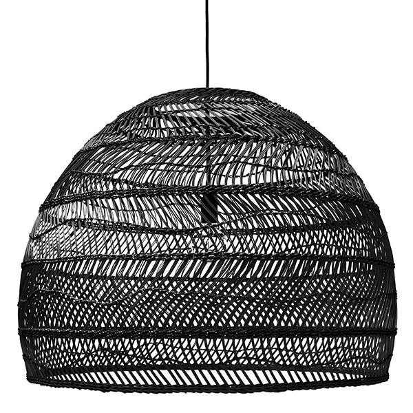 Hk living lampe suspension en osier ø80cm noir hk living