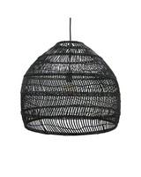 D co scandinave ethnique industrielle et vintage petite for Lampe suspension osier