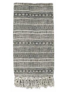 Nordal Plaid Ethnique - gris - 130x160cm - Nordal
