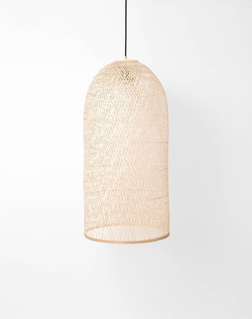 Ay Illuminate Bamboo Pendant Lamp CAP SMALL - Natural - Ø38x85cm - Ay illuminate