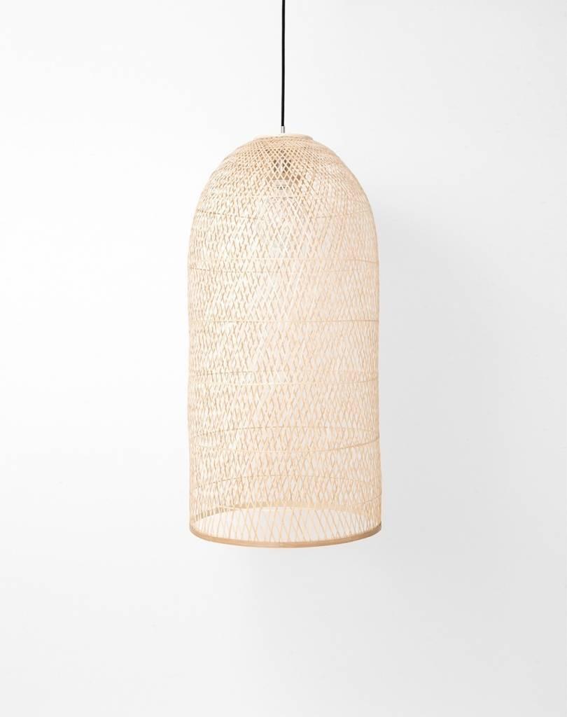 Ay Illuminate Lampe Suspension Bambou CAP SMALL - Natural - Ø38x85cm - Ay illuminate