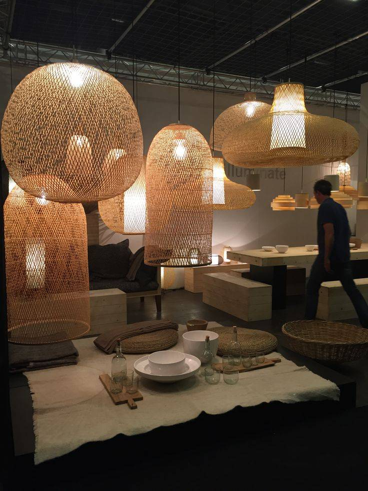 Ay Illuminate Lámpara de suspensión de bambú CAP LARGE - Ø 48x110 cm - Ay illuminate