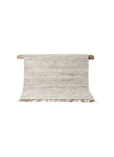 Tell me more Tapis Chanvre TIE Mix - blanc / creme / gris - 200x300cm - Tell Me More