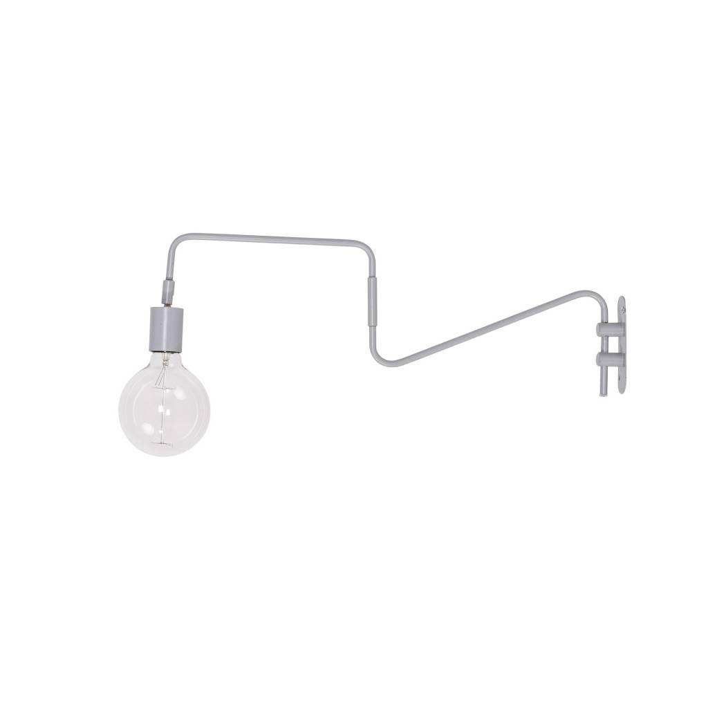 Bloomingville Lámpara de Pared - gris - L80xh30cm - Bloomingville
