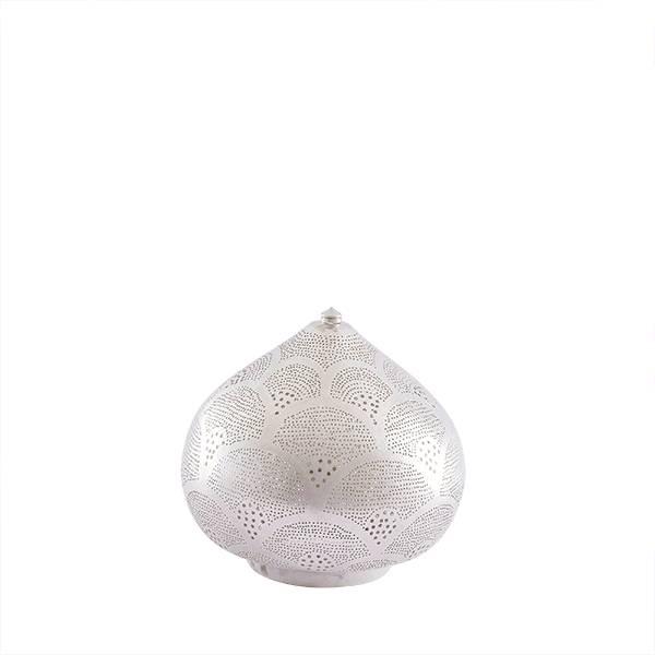 Zenza Egyptian Table Lamp Princess Fan Small Silver - Ø 29x23 cm - Zenza