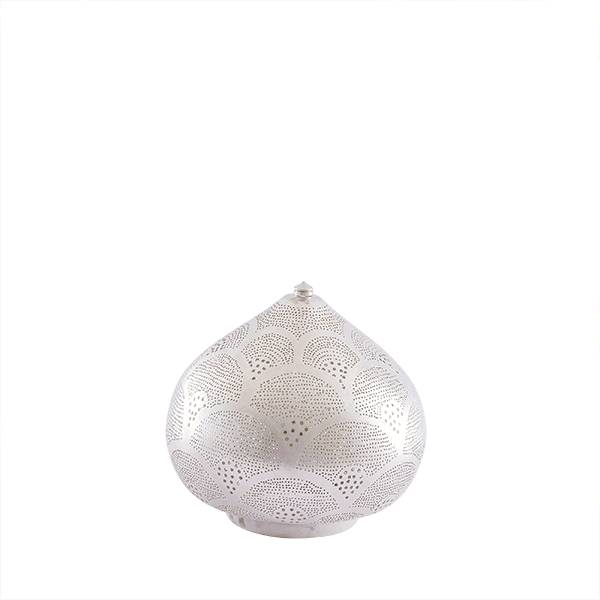 Zenza Lámpara egipcia - plata - Ø 29x23 cm - Zenza