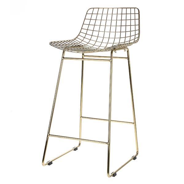 HK Living Wire bar stool brass - HK Living