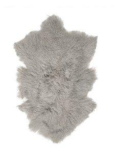 Broste Copenhagen Tibetan sheepskin 'Lamb' -grey - 50x90cm - Broste Copenhagen